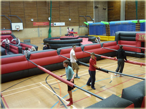 Fun activities and inflatables for team building and activity days