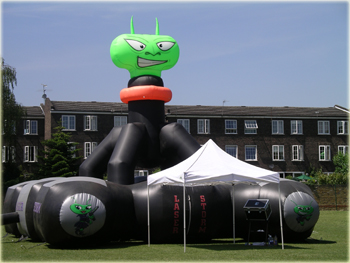 Mobile laser tag arena and inflatable laser quest and laser quasar game for hire in Kent, London, Essex, Sussex, Surrey, south east and throughout the UK